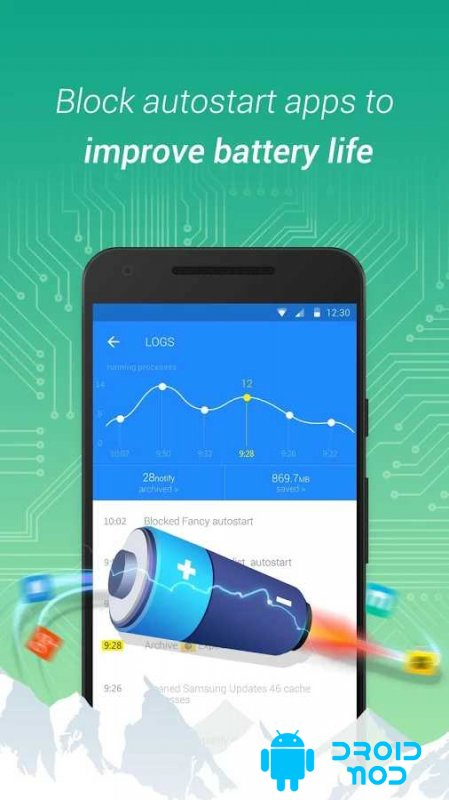 Purify – Improve Battery Life