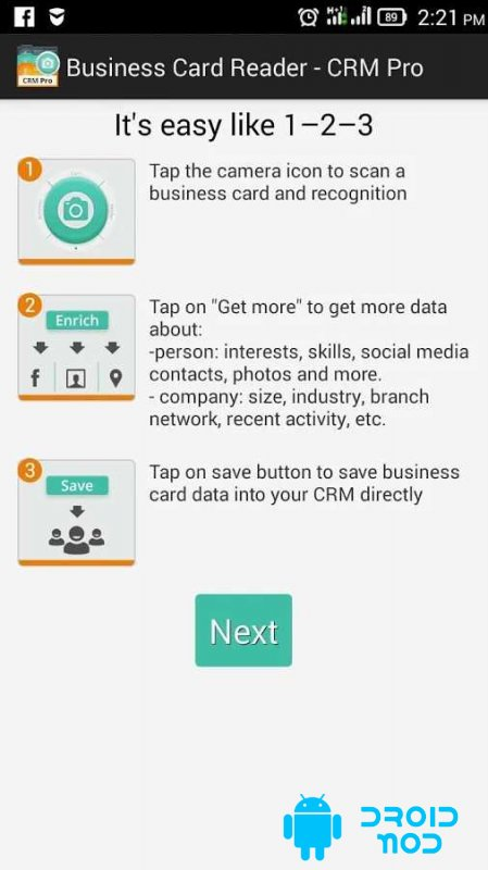 Business Card Reader – CMR Pro