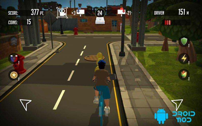 PaperBoy:Infinite bicycle ride