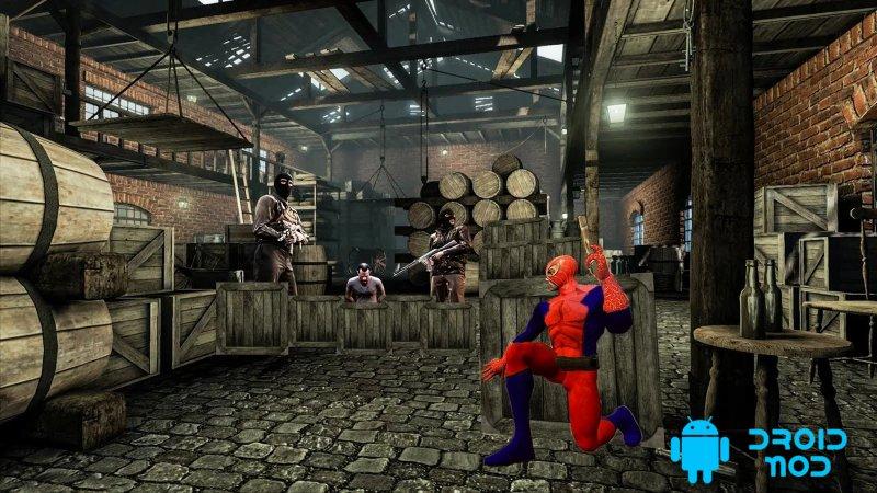 Cупер паук герой анти террористической бой: паук 3