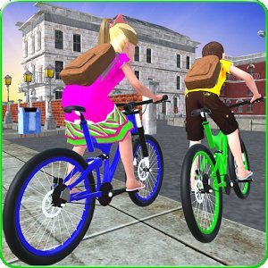 Kids School Time Bicycle Race