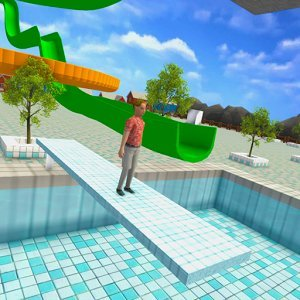 Aqua Waterslide Rush Racing