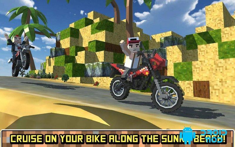 Блочный мото велосипед SIM: летний ветер