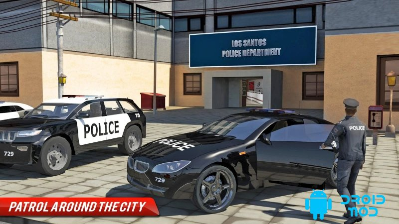 Город преступления - полицейская машина имитатор