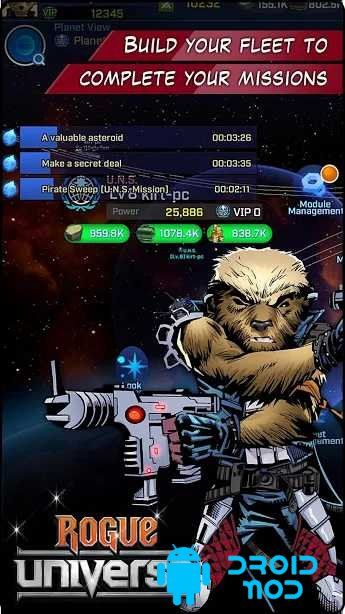 Rogue Universe: Free Sci-fi Space Strategy